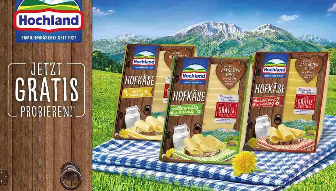 Gratis Käse von Hochland – Alle Gratisproben